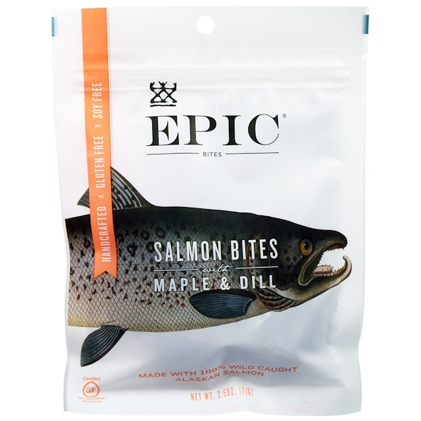 Epic Bar, Salmon Bites with Maple & Dill, 2.5 oz (71 g) (Discontinued Item)