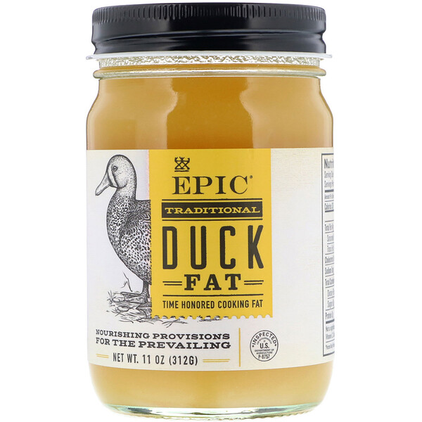 Epic Bar, Traditional Duck Fat, 11 oz (312 g)