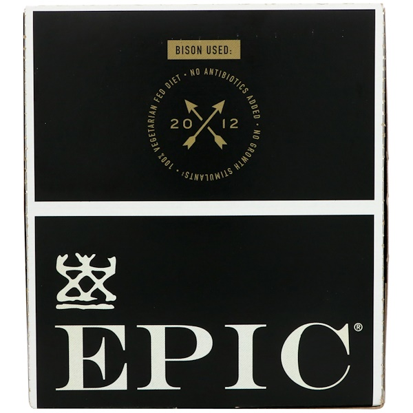 Epic Bar, Bison, Uncured Bacon + Cranberry Bar, 12 Bars, 1.3 oz (37 g) Each