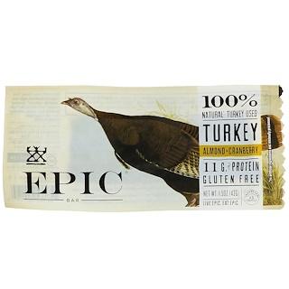 Epic Bar, Turkey, Almond + Cranberry Bar, 12 Bars, 1.5 oz (43 g) Each