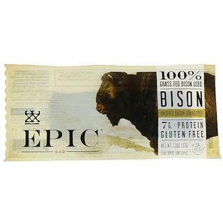 Epic Bar, Bisonte, Barra sin curar + arándano, 12 Barras, 1.3 oz (37 g) c/u