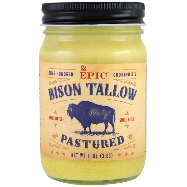 Pastured Bison Tallow, 11 oz (312 g)