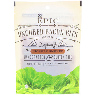 Epic Bar, Uncured Bacon Bits, Hickory Smoked, 3 oz (85 g)