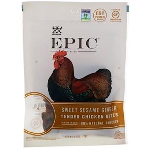Эпик Бар, Bites, Tender Chicken, Sweet Sesame Ginger, 2.5 oz (71 g) отзывы