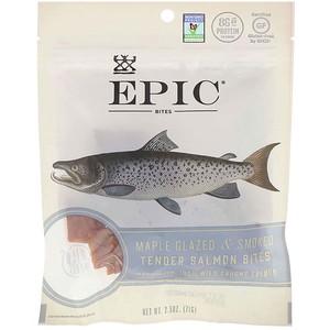 Эпик Бар, Bites, Maple Glazed & Smoked, Tender Salmon, 2.5 oz (71 g) отзывы покупателей