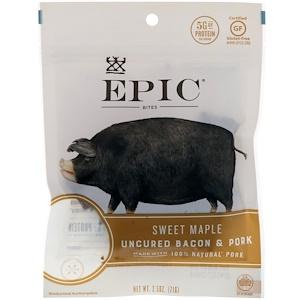 Эпик Бар, Bites, Uncured Bacon & Pork, Sweet Maple, 2.5 oz (71 g) отзывы