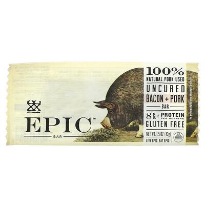 Купить Epic Bar Uncured Bacon + Pork Bar, 1 Bar, 1.5 oz ( 43 g)