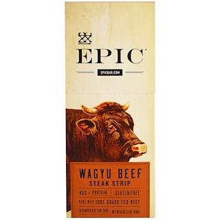 Epic Bar, Wagyu Beef Steak Strip, 20 Strips, 0.8 oz (23 g) Each