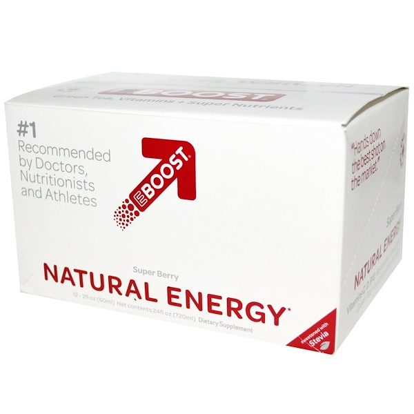 EBOOST, Natural Energy Shot, Super Berry, 12 Pack, 2 fl oz (60 ml) Each (Discontinued Item)