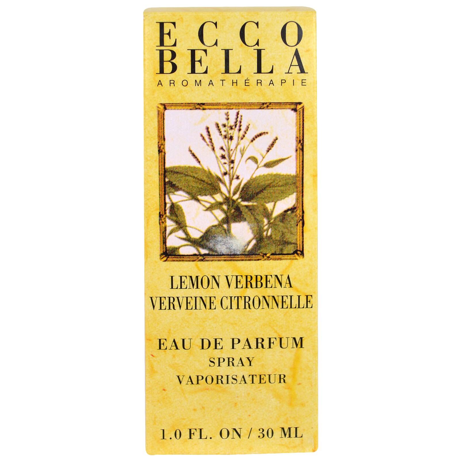 Ecco Bella, Спрей с ароматом вербены лимонной, 1,0 жидкая унция (30 мл)