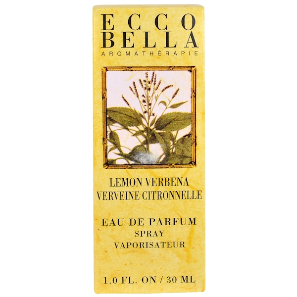 Ecco Bella, Aromatherapy, Eau de Perfum Spray, Lemon Verbena, 1.0 fl oz (30 ml) (Discontinued Item)