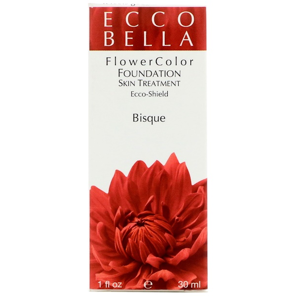 Ecco Bella, FlowerColor, Natural Liquid Foundation, Bisque, 1 fl oz (30 ml)