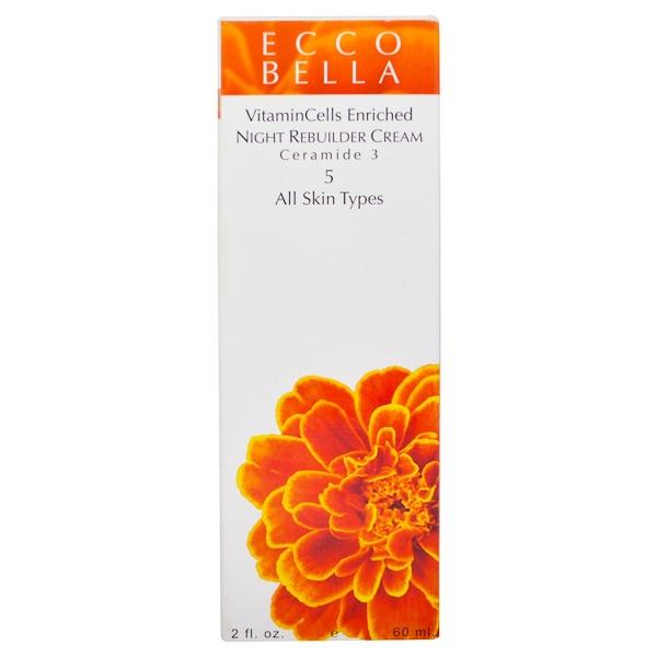 Ecco Bella, Ночной восстанавливающий крем, 5, 2 жидких унции (60 мл) (Discontinued Item)