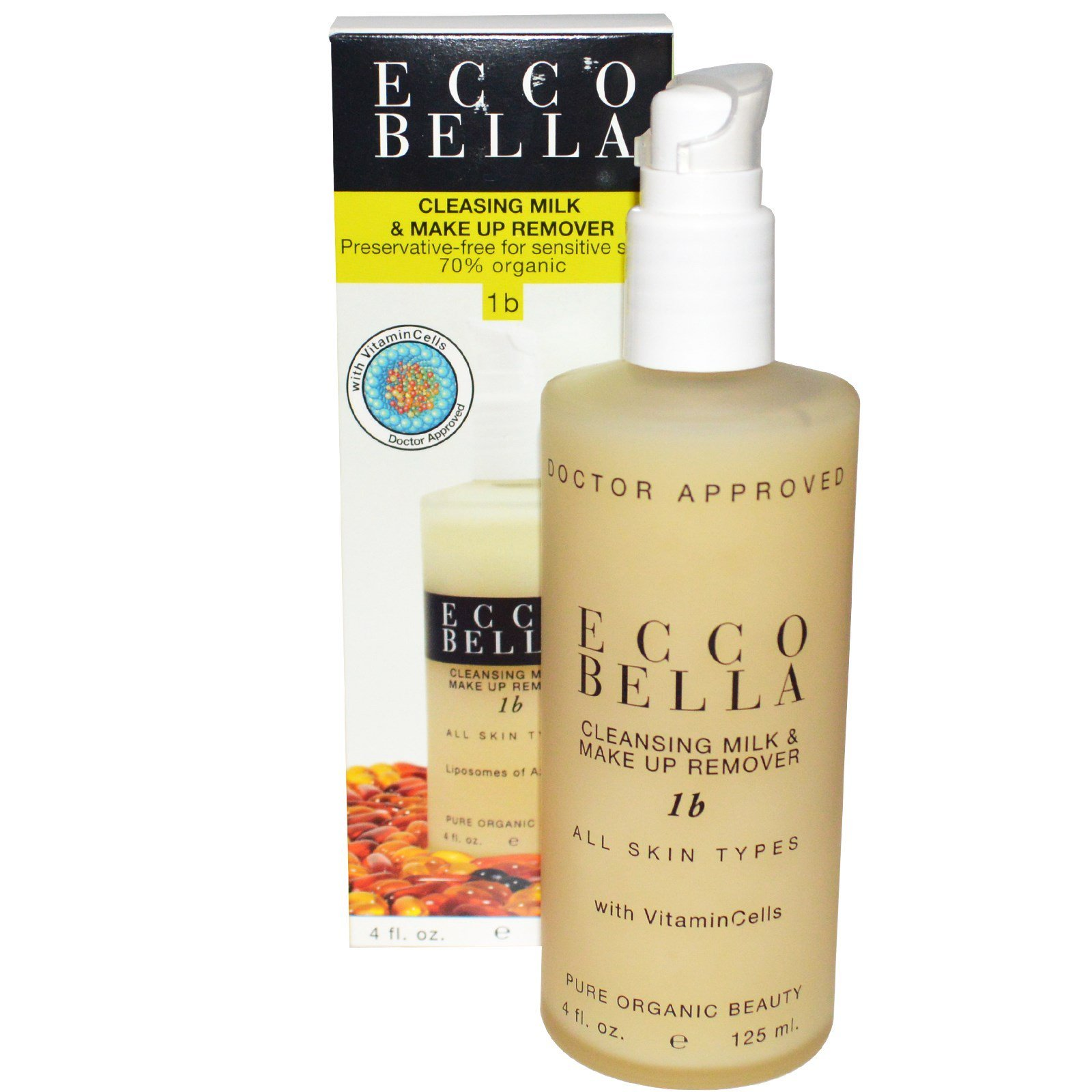 Ecco Bella Cleansing Milk And Make Up Remover With Azulene - 4 Oz Jurlique Purely Age-Defying Eye Cream .5 Oz