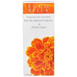 Ecco Bella, Eye Nutrients Cream, 6, 1 fl oz (30 ml)