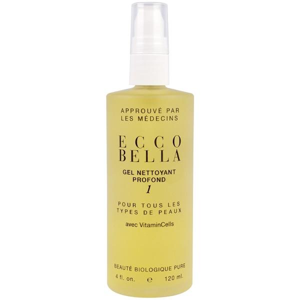 Ecco Bella, Deep Cleansing Gel 1, All Skin Types, 4 fl oz (120 ml) (Discontinued Item)