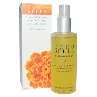 Ecco Bella, Mist-On Toner & Vitamin Spray 2, 4 fl oz (120 ml)