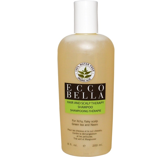 Ecco Bella, Hair and Scalp Therapy Shampoo, Green Tea and Neem, 8 fl oz (200 ml) (Discontinued Item)