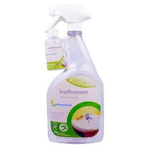 ЭкоДискавэрис, Bathroom Concentrate, Sink and Vanity, 2 oz Concentrate w/ 1 Spray Bottle отзывы