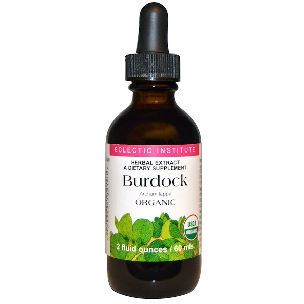 Eclectic Institute, Burdock Organic, 2 fl oz (60 ml) (Discontinued Item)