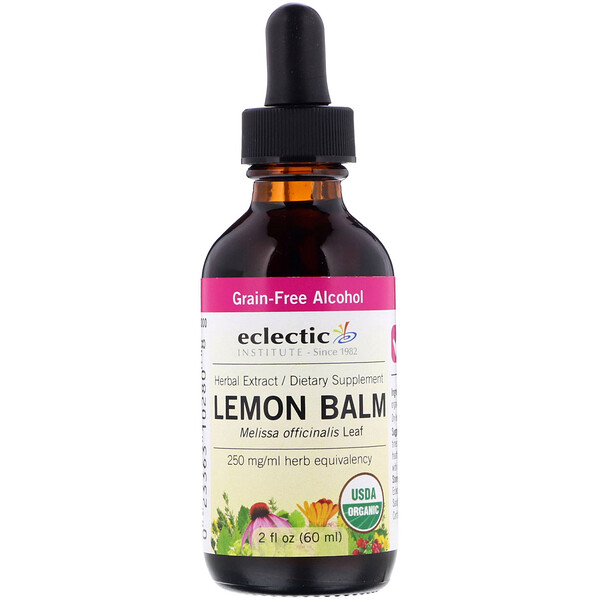 Eclectic Institute, Organic Lemon Balm, 2 fl oz (60 ml)