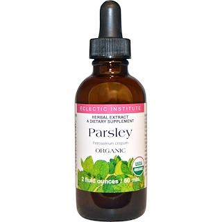Eclectic Institute, Organic Parsley, 2 fl oz (60 ml)