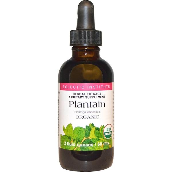 Eclectic Institute, Plantain, Organic, 2 fl oz (60 ml) (Discontinued Item)