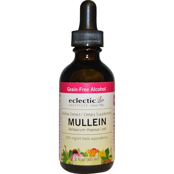 Eclectic Institute, Mullein, 2 fl oz (60 ml) (Discontinued Item)