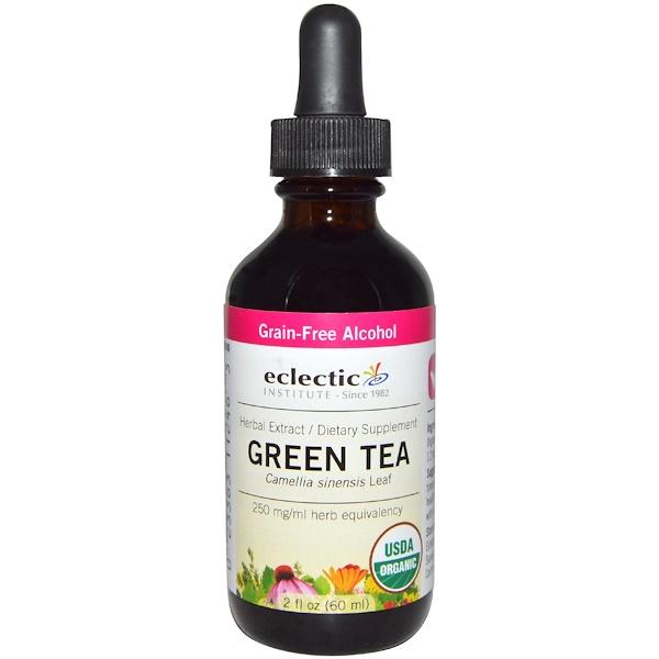 Eclectic Institute, Organic Green Tea, Grain-Free Alcohol, 2 fl oz (60 ml) (Discontinued Item)