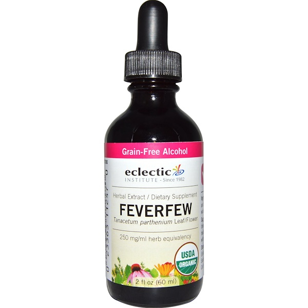 Eclectic Institute, Organic, Feverfew, 2 fl oz (60 ml) (Discontinued Item)