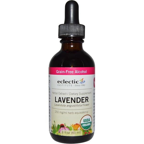 Eclectic Institute, Organic Lavender, Grain-Free Alcohol, 2 fl oz (60 ml) (Discontinued Item)