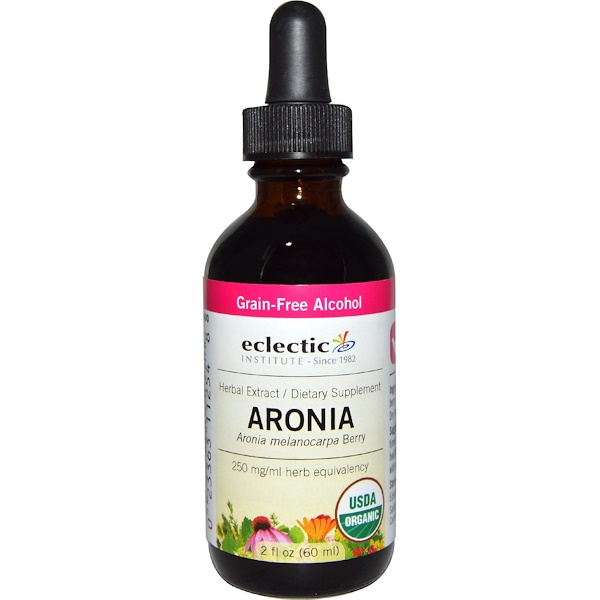 Eclectic Institute, Organic Aronia, Grain-Free Alcohol, 2 fl oz (60 ml) (Discontinued Item)