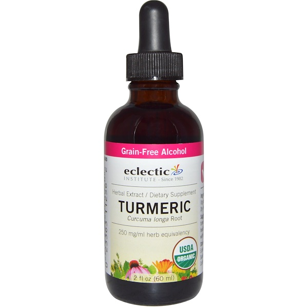 Eclectic Institute, Turmeric, Organic, 2 fl oz (60 ml) (Discontinued Item)