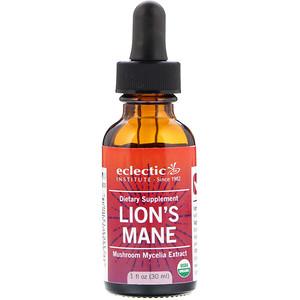 Эклектик Институт, Lion's Mane, Mushroom Mycelia Extract , 1 fl oz (30 ml) отзывы