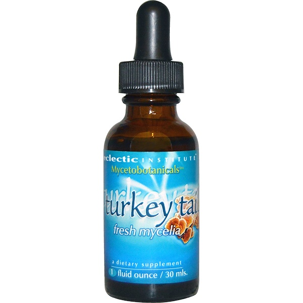 Eclectic Institute, Mycetobotanicals, Turkey Tail, 1 fl oz (30 ml) (Discontinued Item)