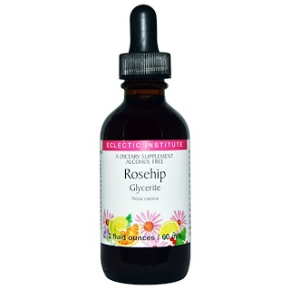 Eclectic Institute, Rosehip Glycerite, Alcohol Free, 2 fl oz (60 ml)