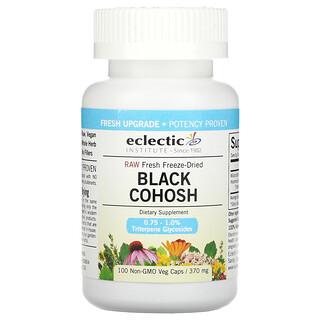 Eclectic Institute, Raw Fresh Freeze-Dried, Black Cohosh, 370 mg, 100  Non-GMO Veg Caps