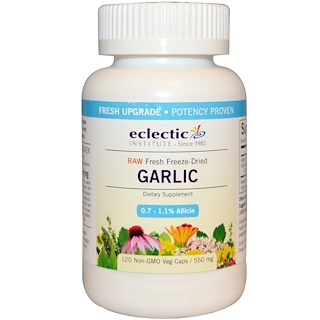 Eclectic Institute, Garlic, 550 mg, 120 Non-GMO Veggie Caps