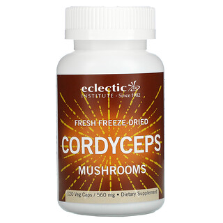 Eclectic Institute, Fresh Freeze-Dried Cordyceps Mushrooms, 560 mg, 120 Veg Caps