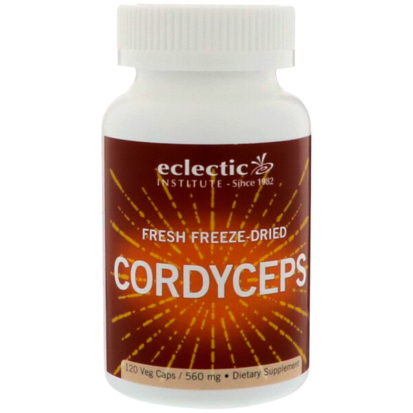 Eclectic Institute, Cordyceps Mushrooms, Fresh Freeze-Dried, 560 mg, 120 Veggie Caps