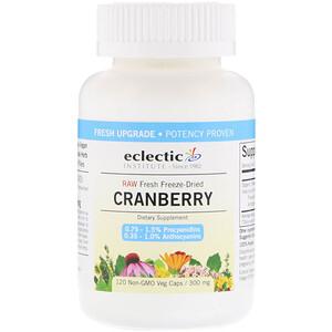 Эклектик Институт, Raw Fresh Freeze-Dried, Cranberry, 300 mg, 120 Non-GMO Veg Caps отзывы покупателей