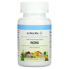 Eclectic Institute, 原生新鮮凍乾,諾麗果,375 毫克,100 粒 Non-GMO 素食膠囊