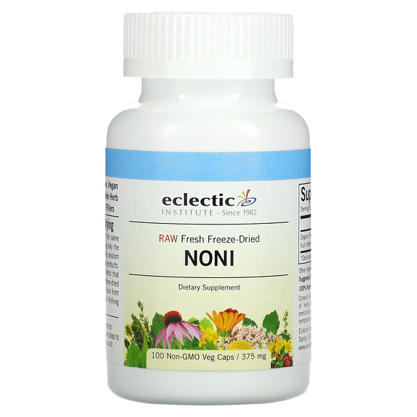 Raw Fresh Freeze-Dried, Noni, 375 mg, 100 Non-GMO Veg Caps