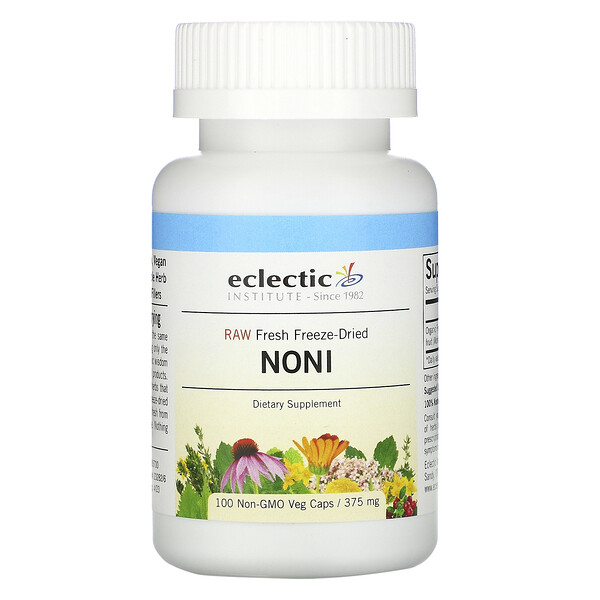 Eclectic Institute, Noni, 375 mg, 100 Non-GMO Veg Caps