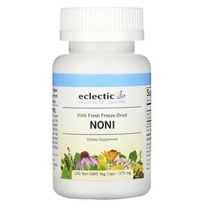 Эклектик Институт, Raw Fresh Freeze-Dried, Noni, 375 mg, 100 Non-GMO Veg Caps отзывы