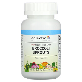 Eclectic Institute, Raw Fresh Freeze-Dried, Broccoli Sprouts, 270 mg, 150 Non-GMO Veg Caps