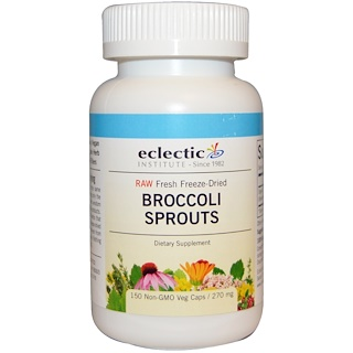 Eclectic Institute, Broccoli Sprouts, 270 mg, 150 Veggie Caps