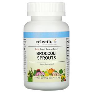 Эклектик Институт, Raw Fresh Freeze-Dried, Broccoli Sprouts, 270 mg, 150 Non-GMO Veg Caps отзывы
