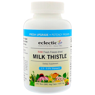 Eclectic Institute, Milk Thistle, 600 mg, 240 Non-GMO Veg Caps