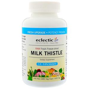Эклектик Институт, Raw Fresh Freeze-Dried, Milk Thistle, 600 mg, 240 Non-GMO Veg Caps отзывы
